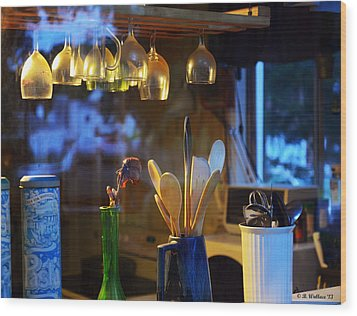 Window To My Kitchen Wood Print by Brian Wallace