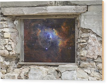 Window To Space Wood Print