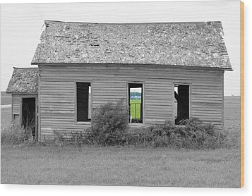 Window To The Future Wood Print