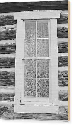 Wood Print featuring the photograph Window To The Old West by Diane Alexander