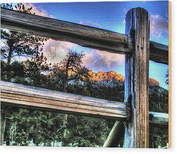 Window To Twin Sisters Wood Print