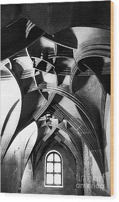 Window View Wood Print by John Rizzuto