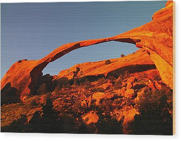 Windows Arch In The Morning Wood Print by Jeff Swan