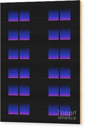 Windows Wood Print by Gayle Price Thomas