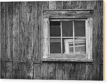 Windows In The Window Wood Print by Jeff Burton