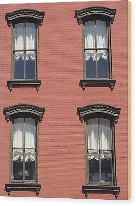 Wood Print featuring the photograph Window's Of Hudson Ny by Ira Shander