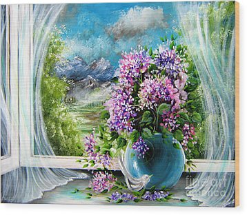 Windows Of My World Wood Print by Patrice Torrillo