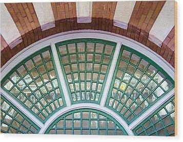 Windows Of Ybor Wood Print by Carolyn Marshall
