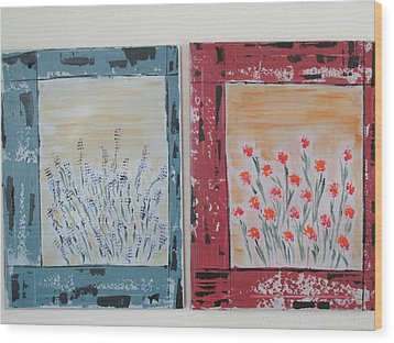 Windows To The Basques Wood Print by Sharyn Winters