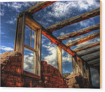 Windows To The Past Wood Print by Timothy Bischoff