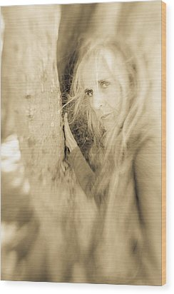 Windows To The Soul Wood Print by Nancy Taylor