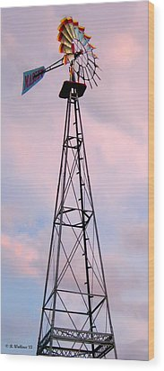 Wood Print featuring the photograph Windpump by Brian Wallace