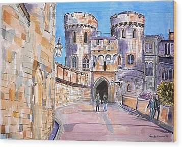 Wood Print featuring the painting Windsor Castle by Geeta Biswas
