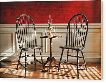 Windsor Chairs Wood Print by Olivier Le Queinec