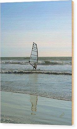 Windsurfing Wood Print by Ben and Raisa Gertsberg