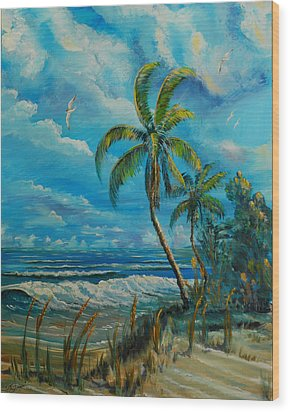 Windswept Beach Wood Print
