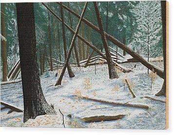 Windswept Woods Wood Print