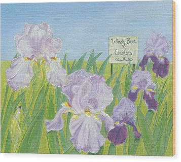 Wood Print featuring the painting Windy Brae Gardens by Arlene Crafton