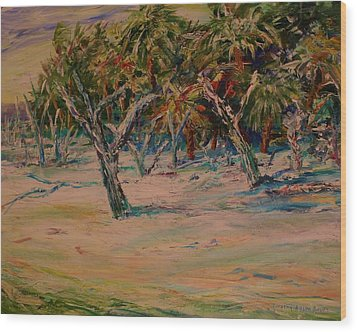 Windy Day At Botany Island Wood Print by Dorothy Allston Rogers