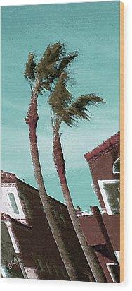 Windy Day By The Ocean  Wood Print by Ben and Raisa Gertsberg