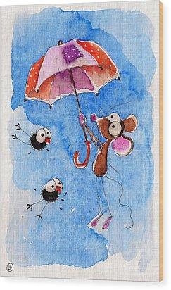 Windy Days Wood Print by Lucia Stewart