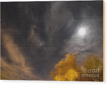 Wood Print featuring the photograph Windy Night by Angela J Wright