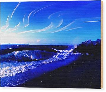 Windy Waterfront At Edmonds Washington Wood Print