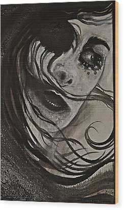 Windyblack Wood Print by Sandro Ramani