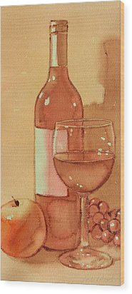Wine And Sunshine One Wood Print