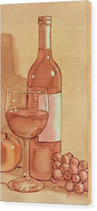 Wine And Sunshine Two Wood Print