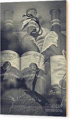 Wine - Beginning And The End Wood Print by Martin Dzurjanik