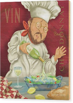 Wine Chef IIi Wood Print by Shari Warren