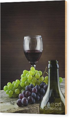 Wine Concept Wood Print by Mythja  Photography