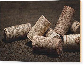 Wine Corks Still Life IIi Wood Print by Tom Mc Nemar