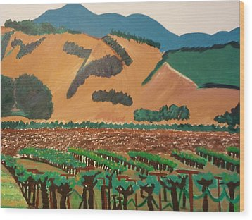 Wine Country  Wood Print by Kathleen Fitzpatrick
