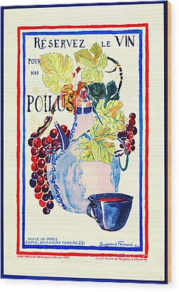 Wine For Soldiers 1916 Wood Print by Padre Art