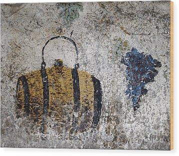 Wine Fresco Wood Print by Bernard Jaubert