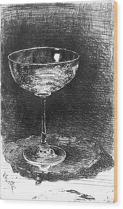 Wine Glass 1860 Wood Print by Padre Art
