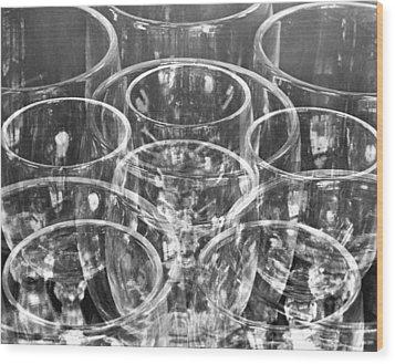 Wine Glasses , Mexico City, 1925 Wood Print by Tina Modotti