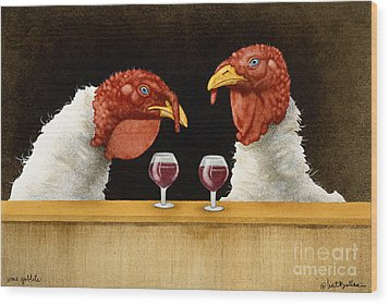 Wine Goblets... Wood Print by Will Bullas