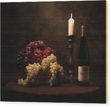 Wine Harvest Still Life Wood Print by Tom Mc Nemar