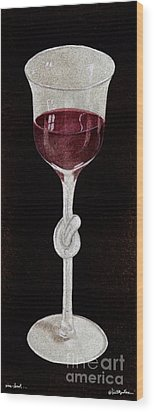 Wine Knot... Wood Print by Will Bullas