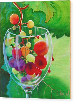 Wine On The Vine IIi Wood Print by Sandi Whetzel