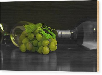 Wine Wood Print by Stephen Smith