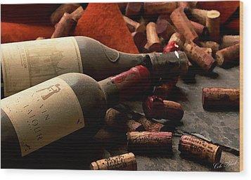 Wine Tasting Wood Print by Cole Black