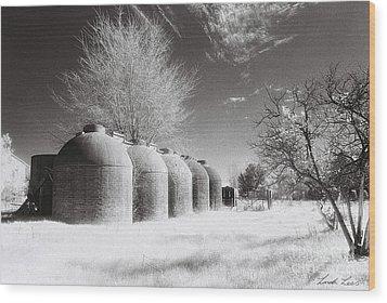 Wine Vats Rutherglen Wood Print by Linda Lees