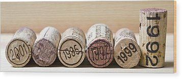 Wine Vintages Wood Print by Frank Tschakert