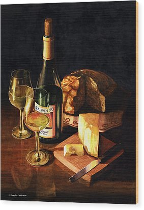 Wine With Cheese Wood Print by Douglas Castleman