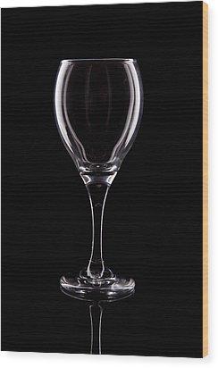 Wineglass Wood Print by Tom Mc Nemar