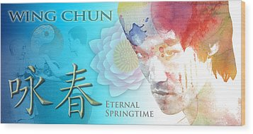 Wing Chun Eternal Springtime Wood Print